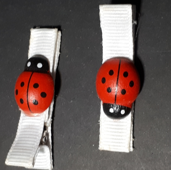 Other - Kiddie Hair Clips - Lady Bugs